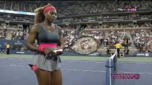 Serena Williams vs Suarez Navarro Match Point Quarterfinals US OPEN 2013