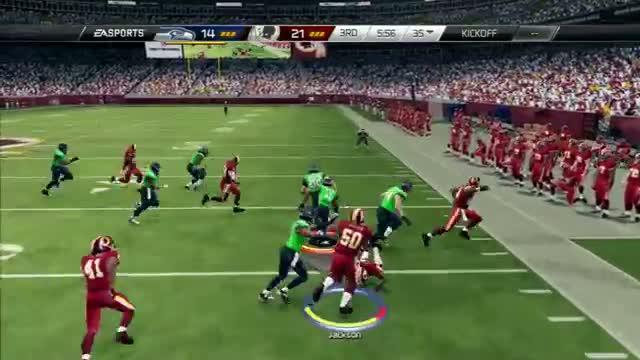 """MADDEN 25-RG3 ON BEAST MODE """"MADDEN NFL 25"""" REDSKINS Vs. SEAHAWKS Online Gameplay"""