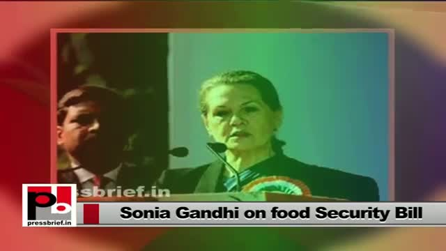 Food Security Bill - a special gift for the poor from Sonia Gandhi