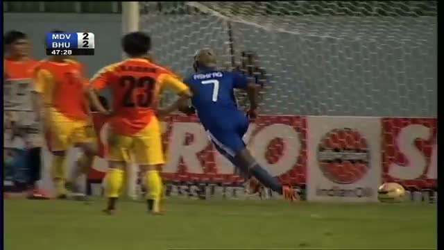Bhutan vs Maldives (Highlights) SAFF Championship 2013