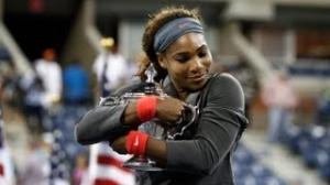 Title ceremony Serena Williams vs Victoria Azarenka Women's Finals US OPEN 2013