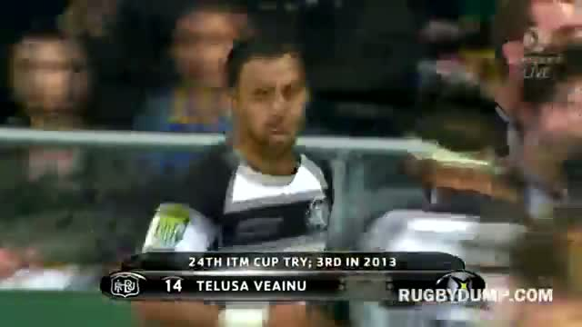 Telusa Veainu scores for Hawkes Bay from Richard Buckman flick pass