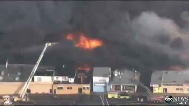 Boardwalk of Iconic Jersey Shore Town Seaside Heights Up in Flames
