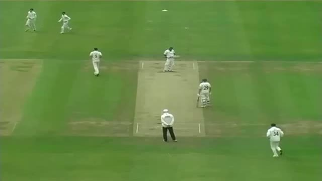Sensational catch by Ollie Rayner to dismiss Samit Patel