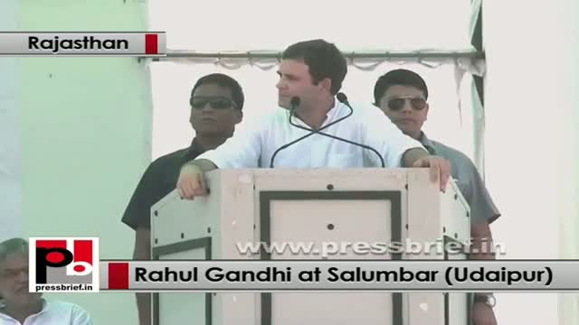 Rahul Gandhi in Rajasthan stresses on the need to empower the tribals