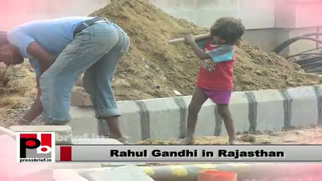 Rahul Gandhi in Rajasthan: Empowerment of the poor necessary for development