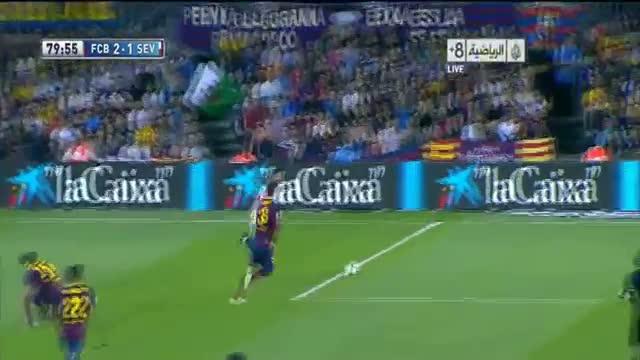 FC Barcelona Vs Sevilla 3-2 2013 Goals & Highlights (14-9-2013) HD