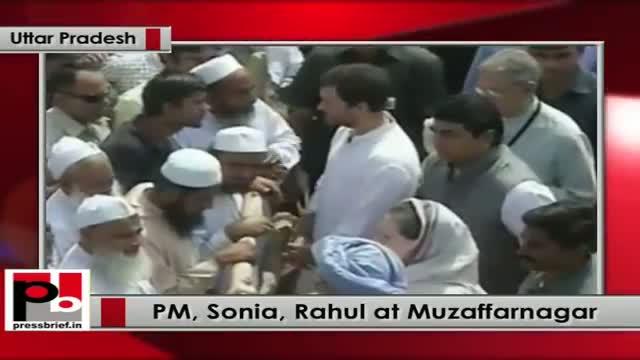 PM, Sonia Gandhi, Rahul Gandhi visit Taawli in violence-hit Muzaffarnagar (UP)