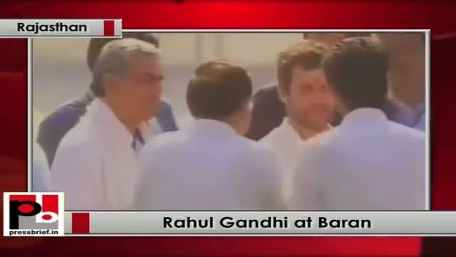 Rahul Gandhi reaches Baran (Rajasthan) to address Congress rally