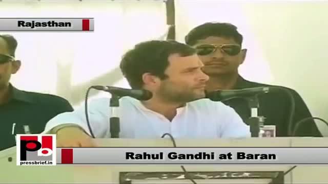 Rahul Gandhi in Baran (Rajasthan): Congress policies are based on poor people's dreams