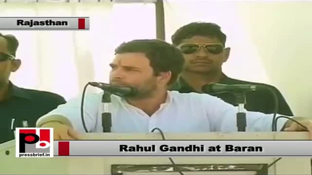 Rahul Gandhi in Baran (Rajasthan) slams opposition for blocking UPA's welfare policies