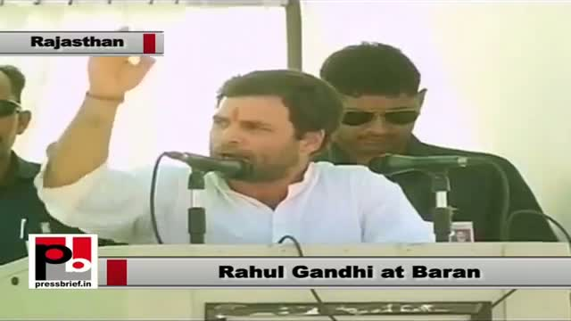 Rahul Gandhi in Baran coins new slogan: Will have enough food and will bring Congress to power