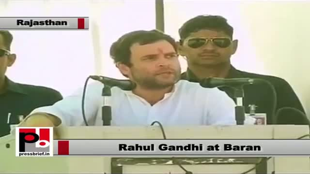 Rahul Gandhi in Baran (Rajasthan): Congress wants the poor to live their dreams