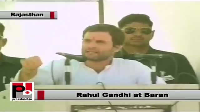 Rahul Gandhi in Baran (Rajasthan) says Land Acquisition will benefit the poor farmers