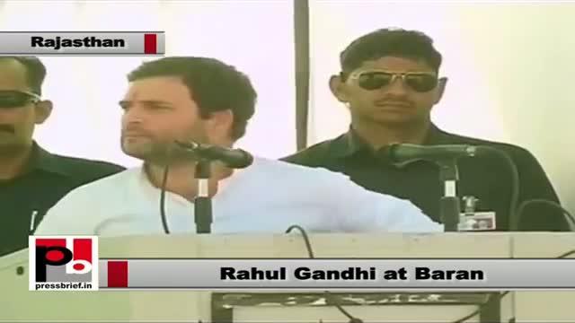Rahul Gandhi in Baran (Rajasthan asserts Panchayati Raj empowers rural poor