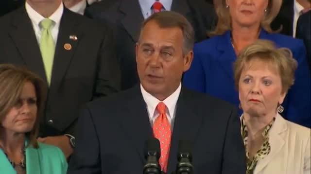 Boehner: Americans 'Don't Want Obamacare'