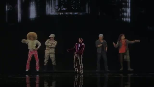 Kenichi Ebina - Robotic Dancer Battles Eight Characters in 3D - America's Got Talent Finals 2013