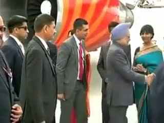 PM at the Frankfurt Airport, en route to attend the 68th Session of the UNGA