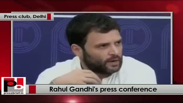 Rahul Gandhi's press conference in New Delhi on Govt's Ordinance on convicted lawmakers