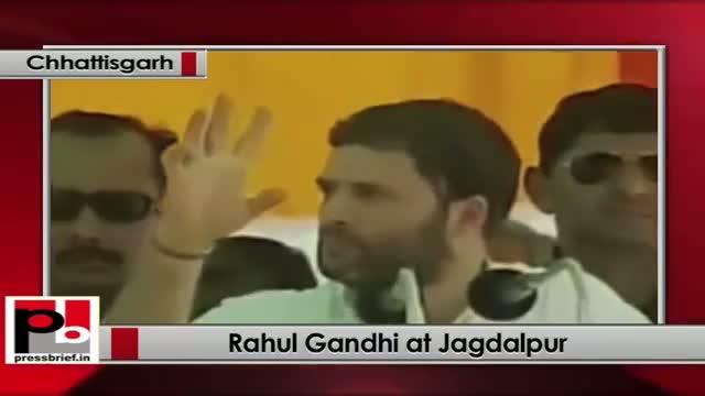 Rahul Gandhi in Chhattisgarh refers to the May 25 Maoist attack in Bastar