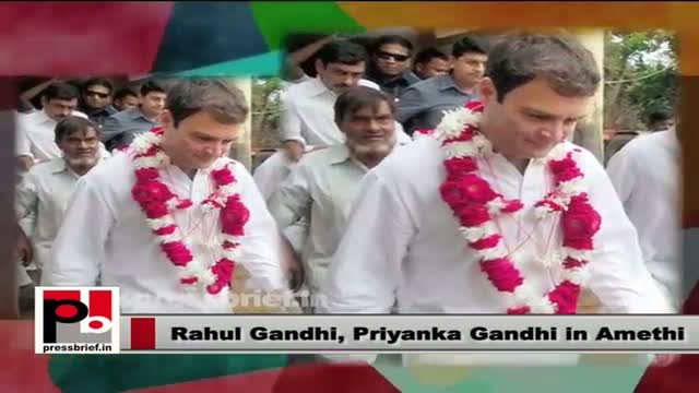Rahul Gandhi, Priyanka Gandhi visit Amethi; hold discussions with Congress workers
