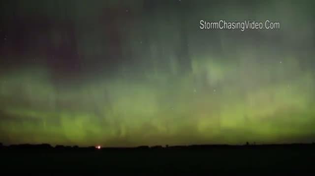 Northern Lights Put on Show Over Minnesota