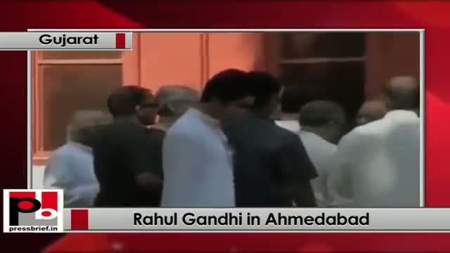 Rahul Gandhi in Gujarat, visits Mahatma Gandhi's Sabarmati Ashram in Ahmedabad