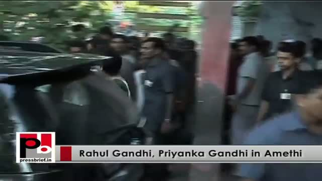 Rahul Gandhi Priyanka Gandhi visits Amethi to interact with the Congress workers