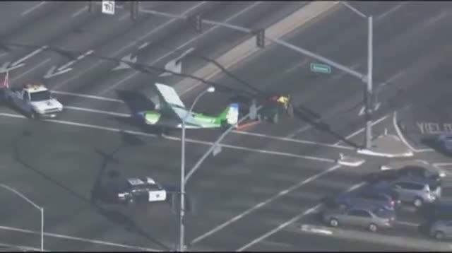 Plane Makes Emergency Landing on Calif Road