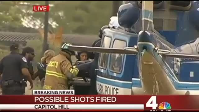 An Injured Officer is Air Lifted After Miriam Carey Shot By Police Near Capitol