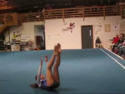 Floor Routine Gymnastics Kayla 9 Year Old Girl