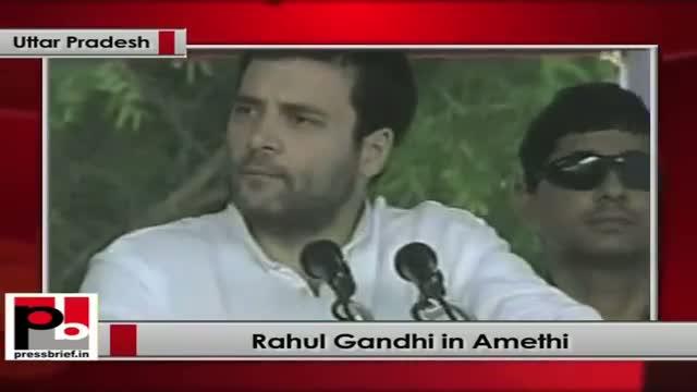 Rahul Gandhi in Amethi speaks after laying foundation stone of Mega food park in Jagdishpur