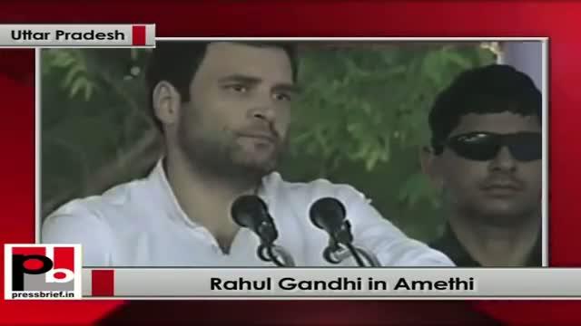 Rahul Gandhi speaks after laying foundation stone of mega food park in Amethi (UP)