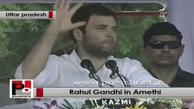 Rahul Gandhi in Amethi at foundation stone of Mega food park in Jagdishpur (Amethi)