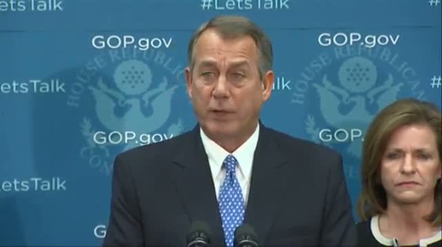 Boehner: 'I'm Not Drawing Any Lines in the Sand'