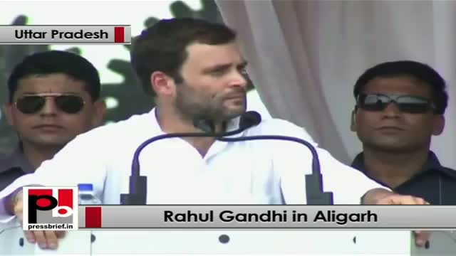 Rahul Gandhi in Aligarh: Only Congress party fights for people's rights