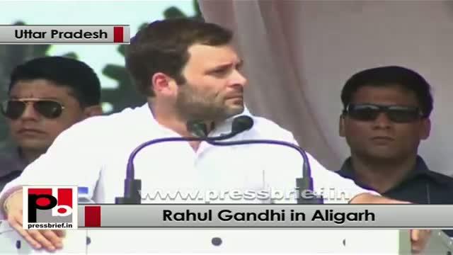 Rahul Gandhi in Aligarh talks about Muzaffarnagar riots; slams divisive politics