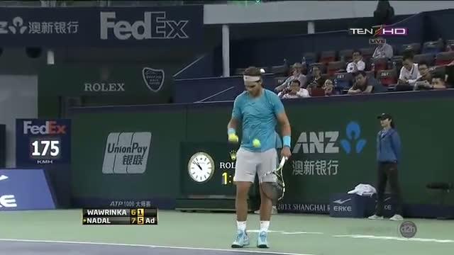 Rafael Nadal vs Wawrinka Match Point Highlhgts Quarterfinals Shanghai Masters 2013