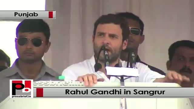 Rahul Gandhi speaks at a Congress Rally in Sangrur, Punjab