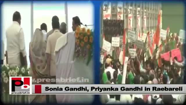 Sonia Gandhi, Priyanka Gandhi at foundation-stone laying function rail wheel factory in Raebareli