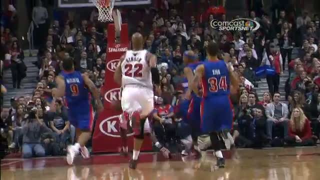 NBA: Tony Mitchell Rises Up for the Swat