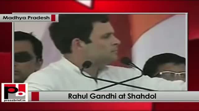 Rahul Gandhi addresses Congress rally at Lalpur Ground in Shahdol (Madhya Pradesh)