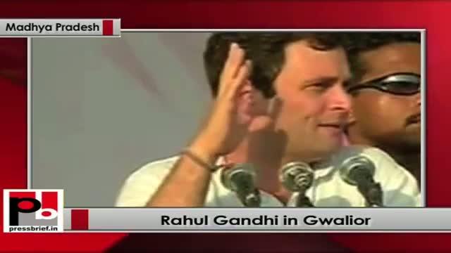 Rahul Gandhi addresses Congress rally in Gwalior, Madhya Pradesh