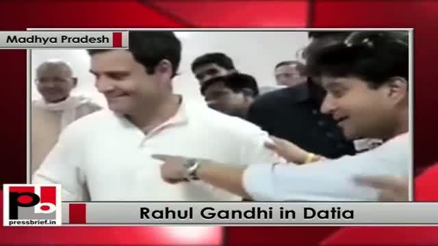Rahul Gandhi meets stampede victims in Datia, Madhya Pradesh