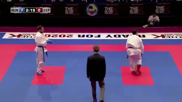 Adam Kovacs vs Manuel Rasero. Bronze Medal Kumite Male - 67kg. 48th European Karate Championships
