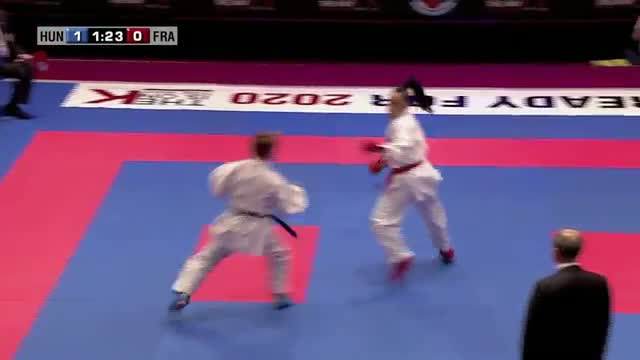 Beatriz Toth vs Lucie Ignace. Bronze Medal Kumite Female -55kg. 48th European Karate Championships