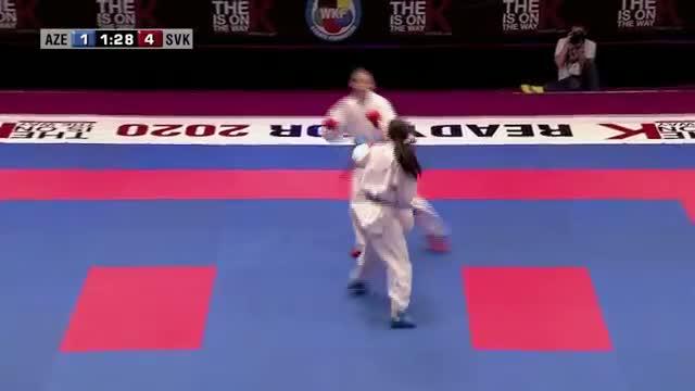 Ilaha Gasimova vs Jana Vojtikevicova. 48th European Karate Championships. Kumite Female -55kg