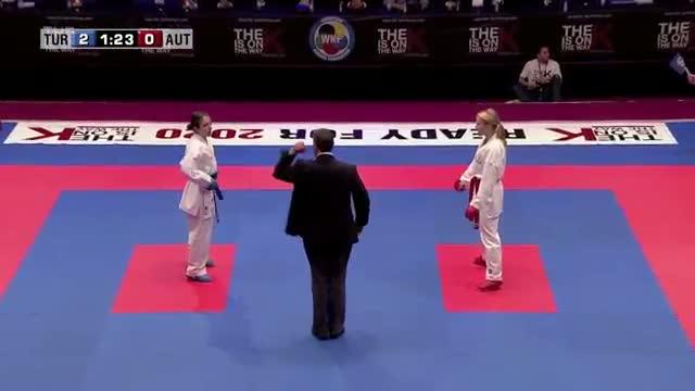Bahar Erseker vs Stephanie Kaup. 48th European Karate Championships. Kumite Female -61kg