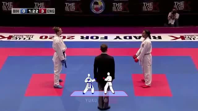 Mirsada Suljkanovic vs Natalie Williams. 48th European Karate Championships. Kumite Female -61kg