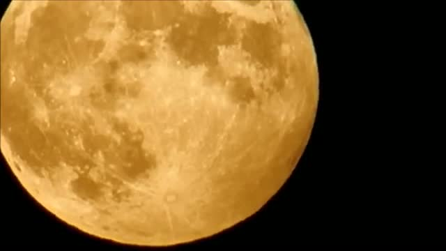 Partial Lunar Penumbral Eclipse From CO, USA 10/18/2013